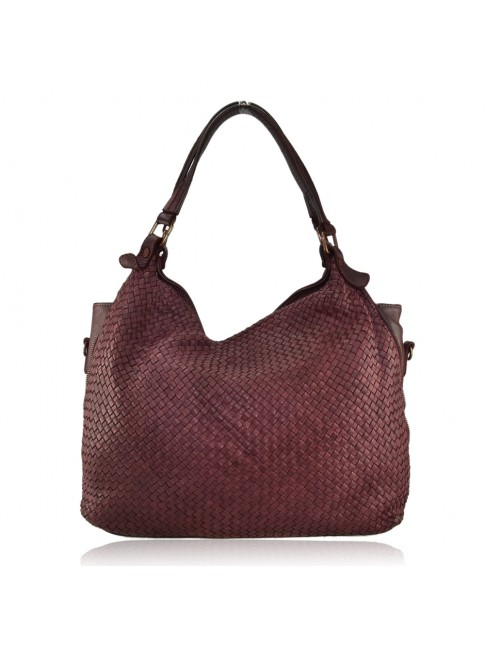 Woman washed leather bag