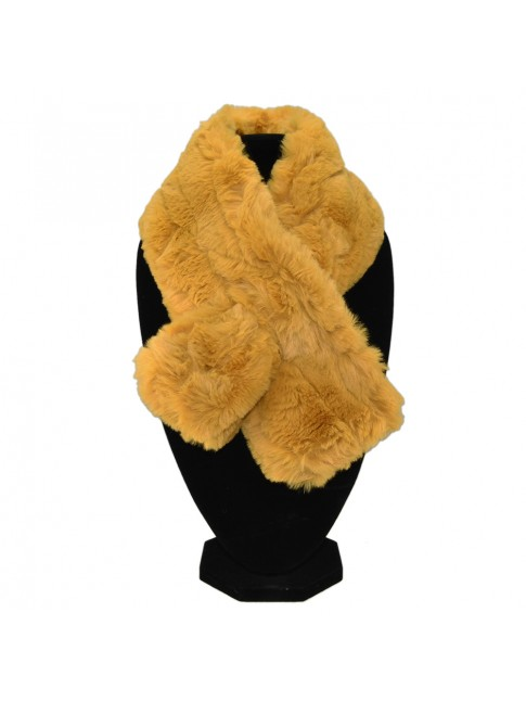 Synthetic fur scarf
