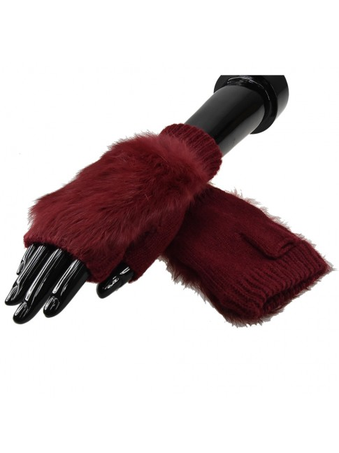 Glove soft fabric with fur