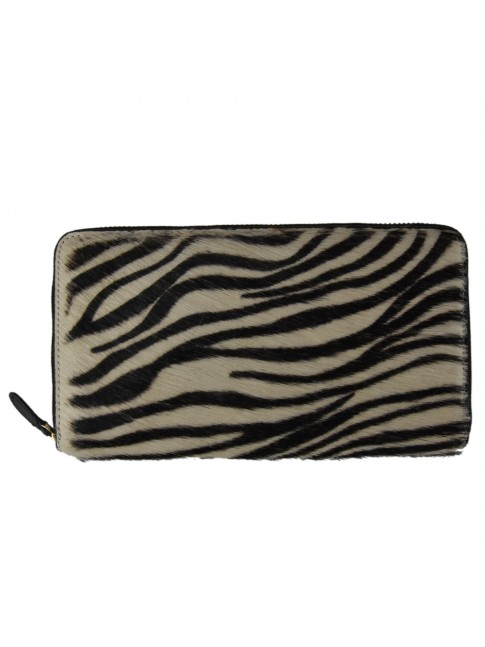 Woman leather & fur wallet