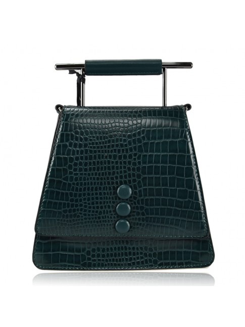 Woman synthetic leather shoulder bag