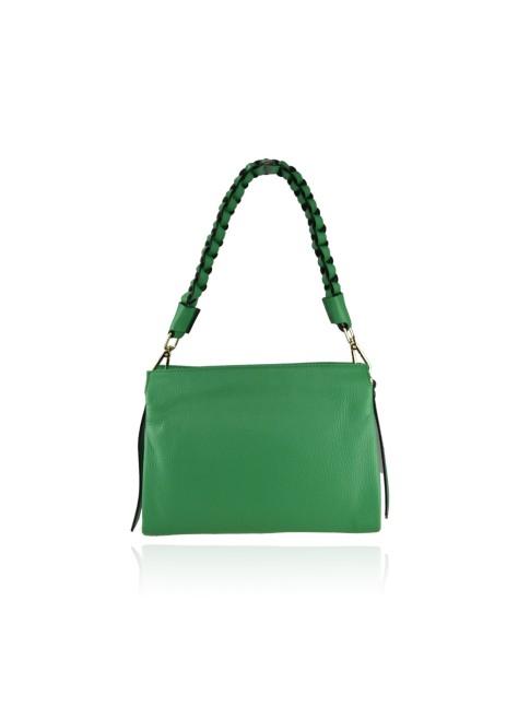Woman suede leather shoulder bag