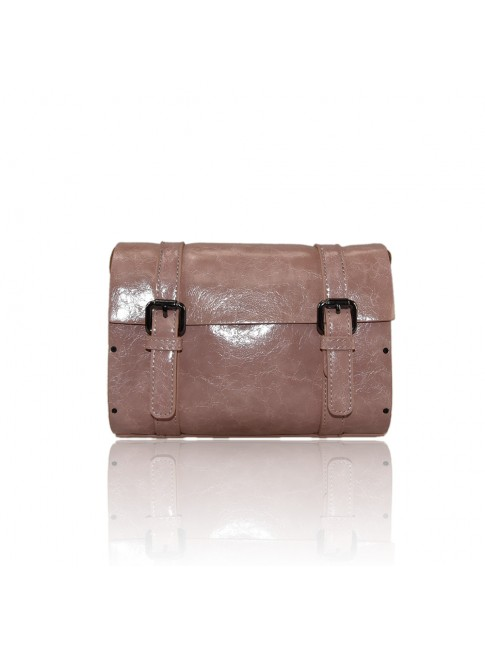 synthetic leather bag with shoulder strap - 1445