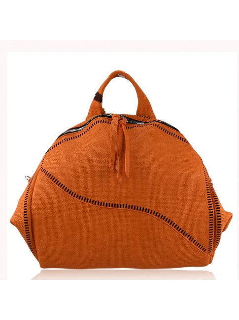 Trunk synthetic leather bag with shoulder strap - Y1905