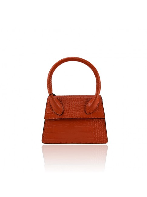 Woman leather hand bag with shoulder strap - JM18820