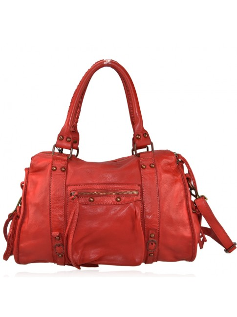 Woman washed leather bag - BA59865