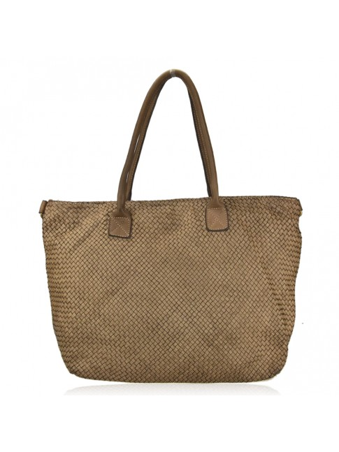 Woman woven vintage leather bag - MY65872