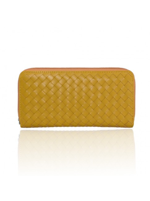 Woman woven leather wallet - TR8291