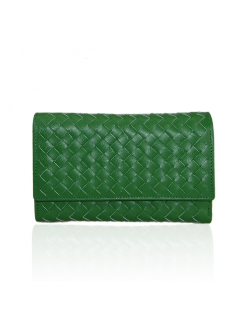 Woman woven leather wallet - TR8283