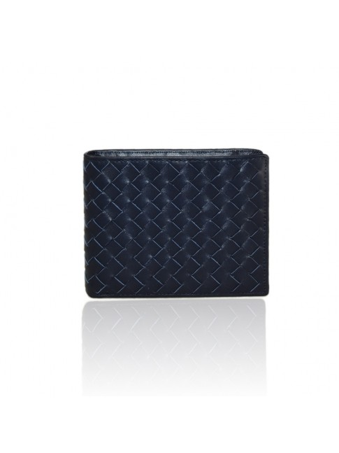 Woven leather wallet - TR4451