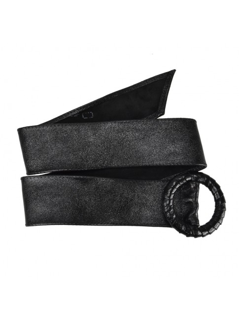 Woman metal color leather belt - CLM75