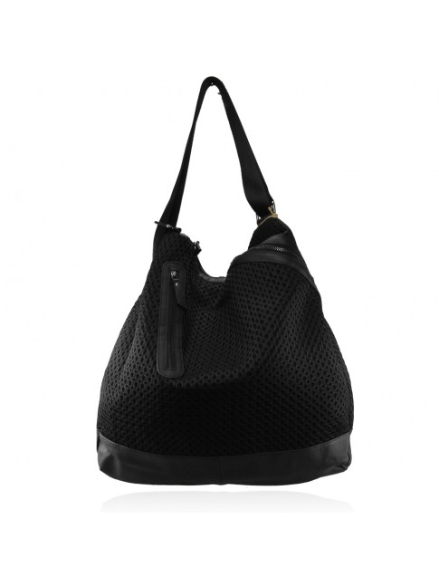 Woman  leather & textile bag - Backbag - 1290