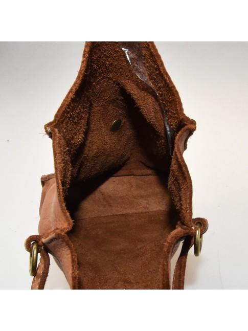 Woman  leather & textile bag - Backbag - 1290
