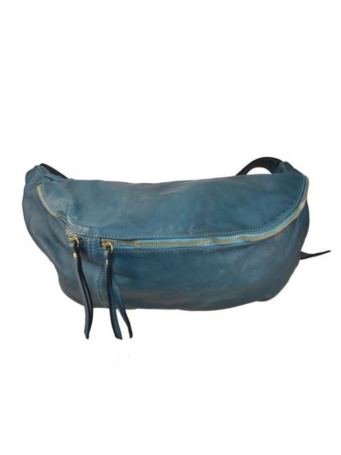 Woman shoulder leather bag with laser work & stamp - KL36839