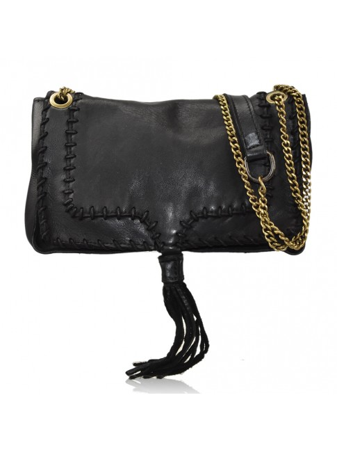 Woman vintage leather shoulder bag - YF45850