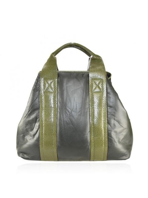 Leather bag with shoulder strap - CK32835