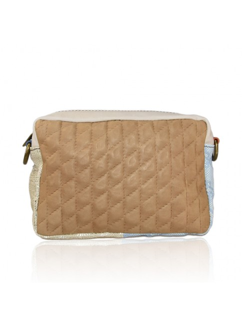 Borsa a tracolla donna in pelle patchwork - ZP25827