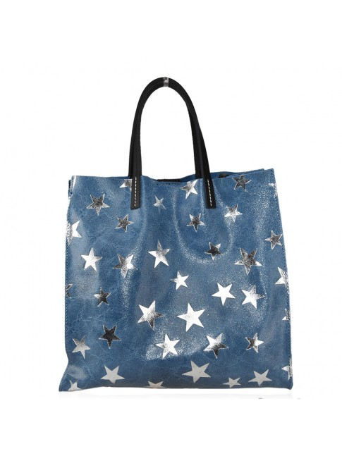 Woman star stamp leather bag - FL35838