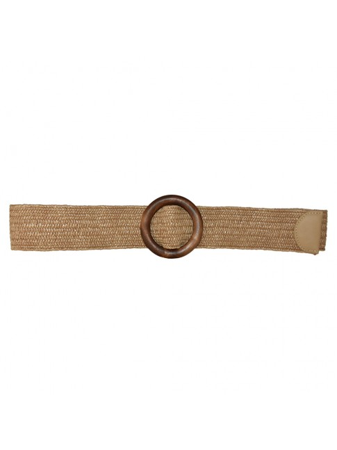 Woman raffia elastic belt - 068013