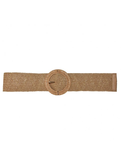 Woman raffia elastic belt - STP915