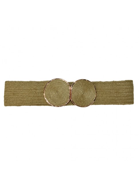 Woman raffia elastic belt - L27