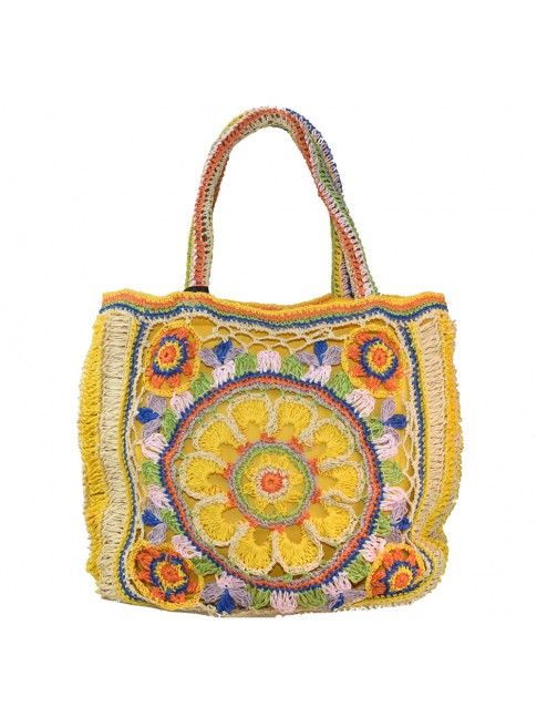 Woman rafia shoulder bag - 19151