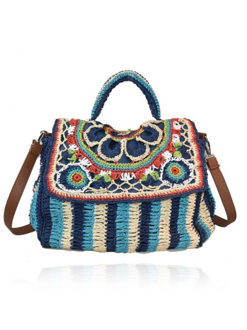 Woman rafia shoulder bag - 19152