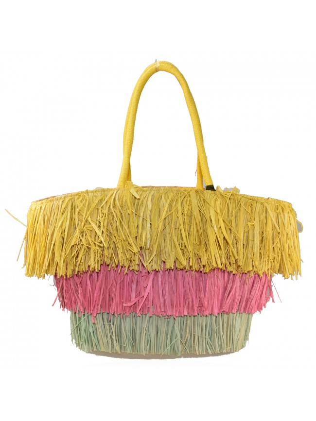 Woman straw beach bag - JC1502