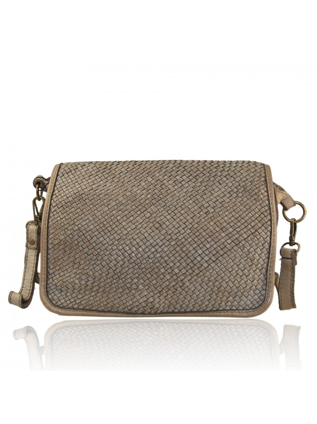 Woman washed leather pochette - AB47852