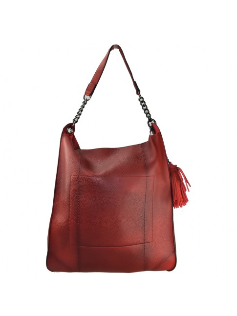 Woman synthetic leather bag with vintage effect - BS20-010