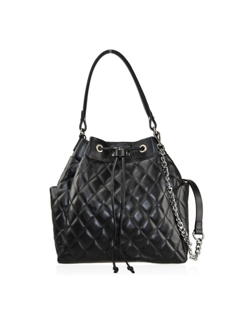 Woman quilted leather shoulder bag - ZC39843