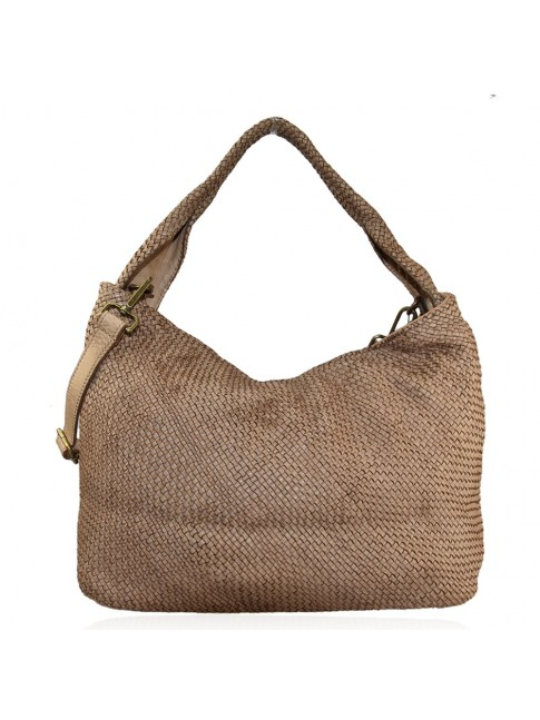 Shoulder woman woven washed bag - TB59865