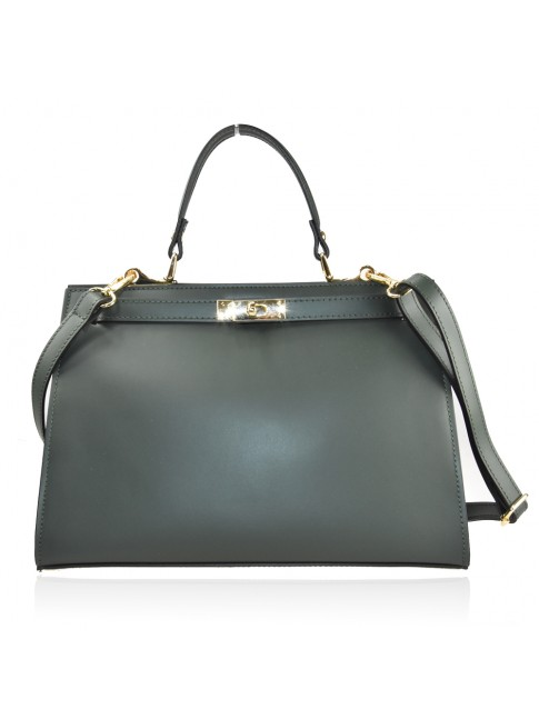 Leather bag with shoulder strap - DH35838