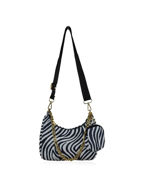 Woman leather with pochette shoulder bag - LC25827