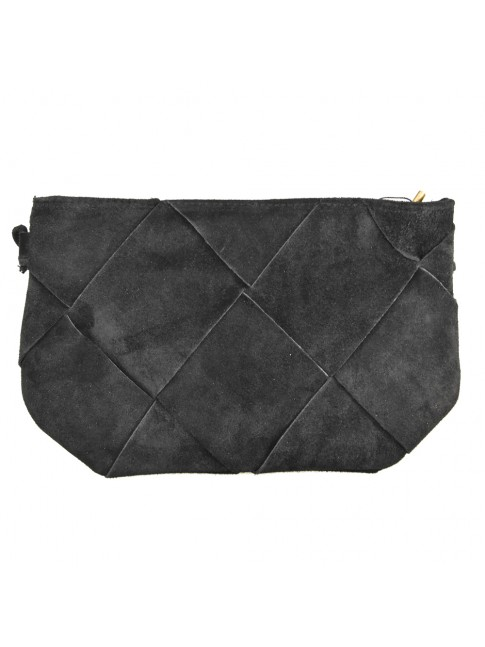 Woman leather pochette with shoulder bag - BC16818