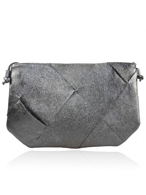 Woman leather pochette with shoulder bag - BC20822
