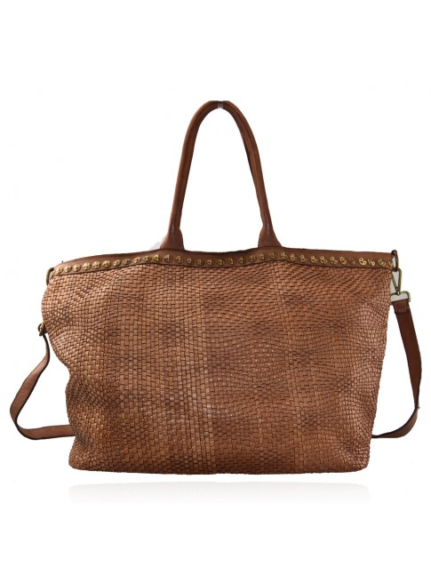 Woman woven leather bag - HY59865