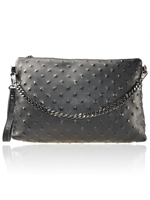 Woman leather pochette 100% made italy - FB28831