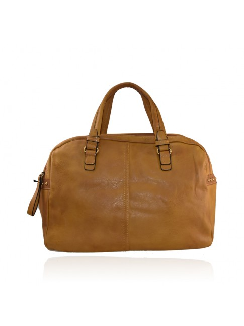 Trunk vintage synthetic leather bag with shoulder strap - 2759