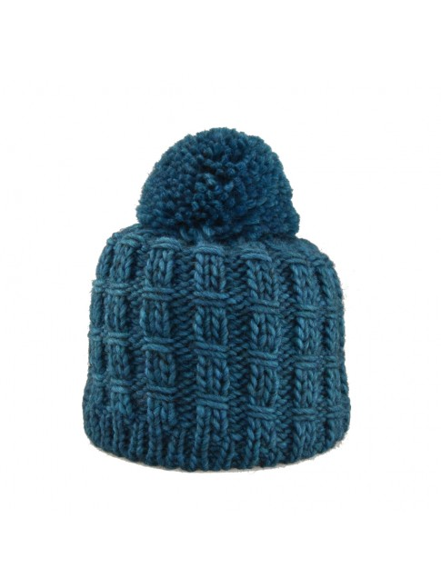 wool woman hat with pompon - 2365