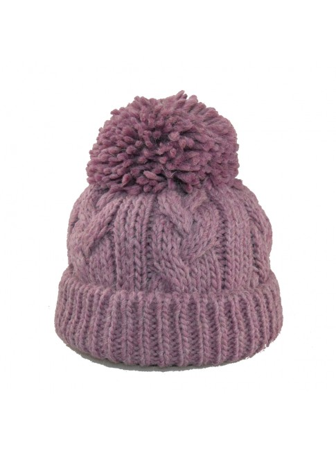 wool woman hat with pompon - 4952