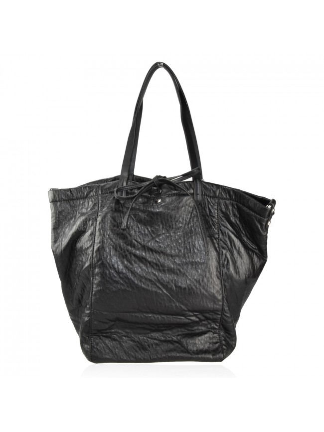 Woman sythetic leather reversible shopping bag - 3620