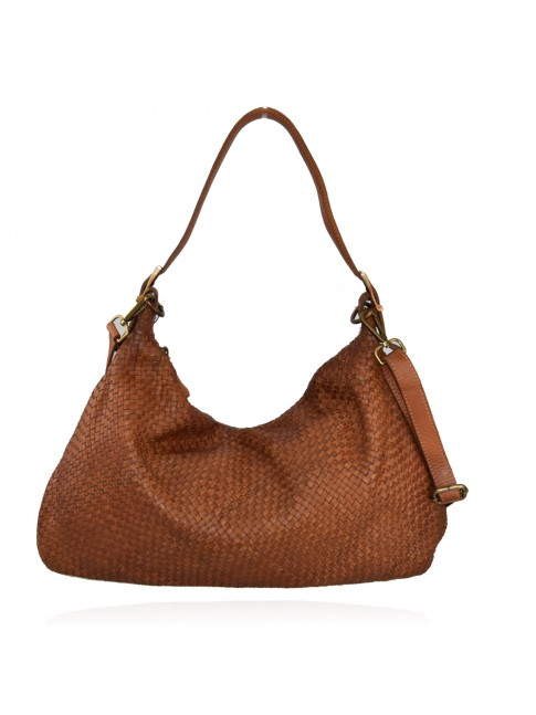 Shoulder woman woven washed bag - YJ55861