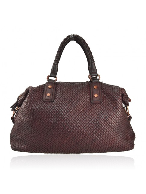 Shoulder woman woven washed bag - GQ59865