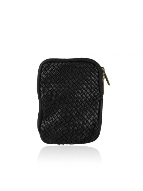 Woman vintage leather mobile pochette - PC17819