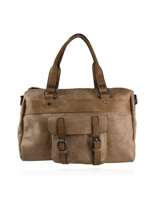 Trunk synthetic leather bag with shoulder strap - 2103