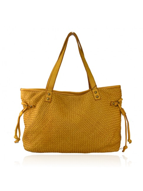 Shoulder woman woven washed bag - VB58864