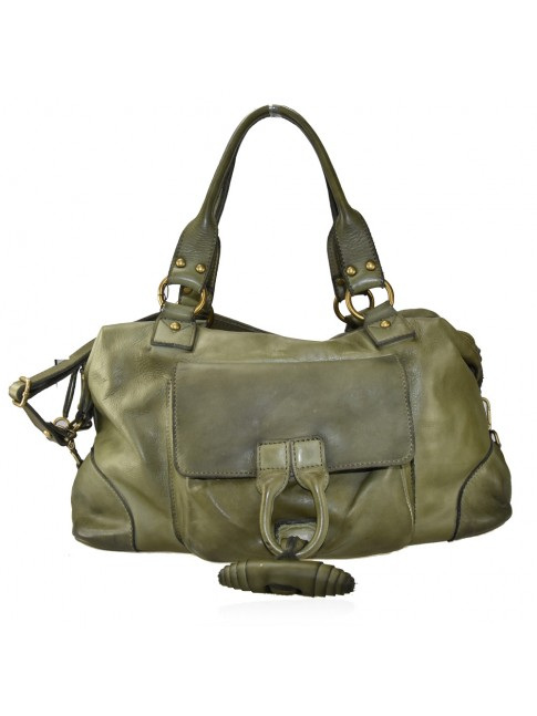 Vintage leather shoulder bag - CH59865