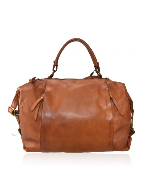 Trunk vintage Leather bag with shoulder strap - QC58864