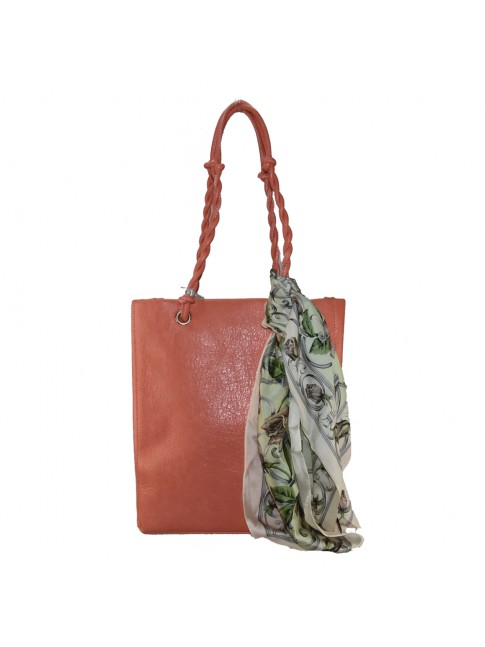 Woman synthetic leather shopping bag - PF500